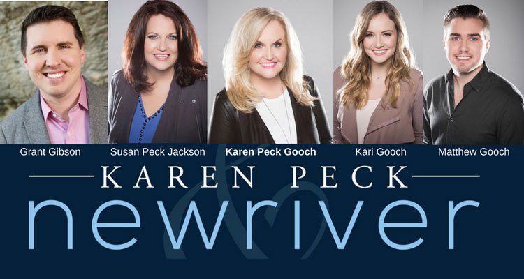 Grant Gibson, Susen Peck Jackson, Karen Peck Gooch, Kari Gooch, Matthew Gooch. Karen Peck. New River.